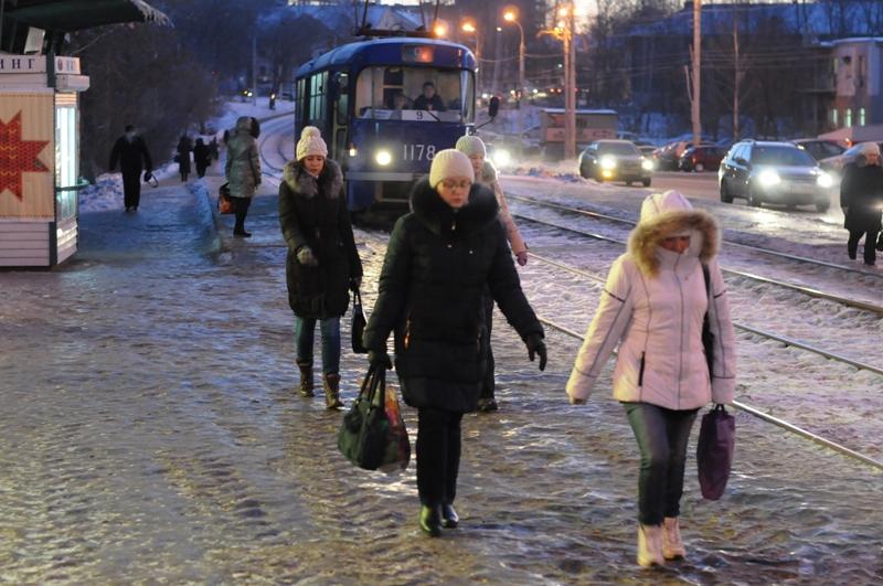 Фотофакт: морозным утром Ижевск погрузился в клубы пара
