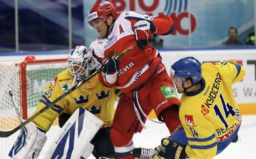 Россияне разгромили сборную Швеции по хоккею