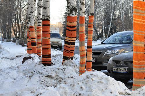 Фотофакт: ижевчане украсили деревья к встрече Нового года