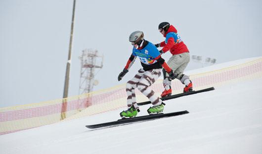 В Чекериле стартовал Кубок России по сноуборду
