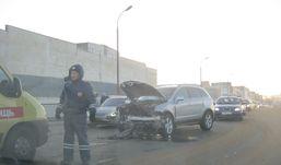 Четыре автомобиля столкнулись на набережной Ижевска
