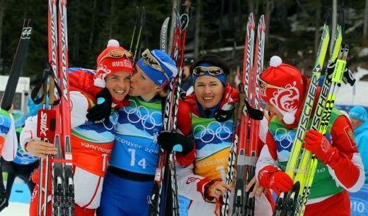 Женская сборная по биатлону завоевала серебро