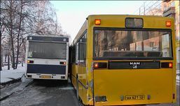 Два автобуса столкнулись  в Ижевске