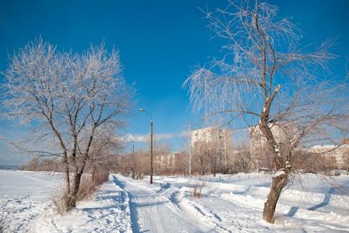 Фотофакт: крещенские морозы пришли в Ижевск