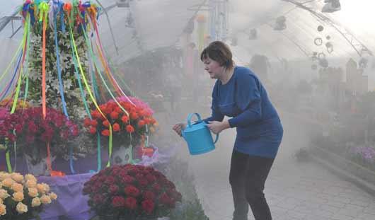 «Карусель» из роз загорелась на открытии выставки «Цветы Удмуртии»
